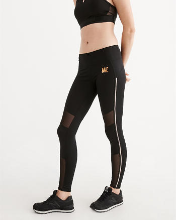 ANF Active High Rise Mesh Leggings