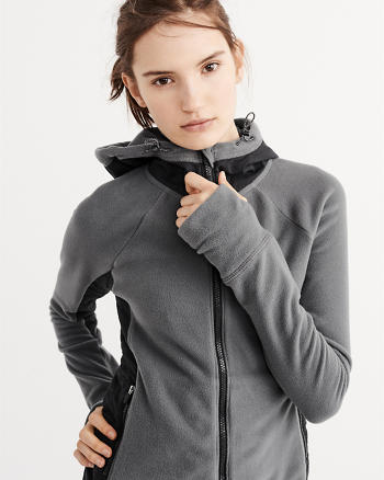 ANF Active Stretch Fleece Full-Zip Hoodie