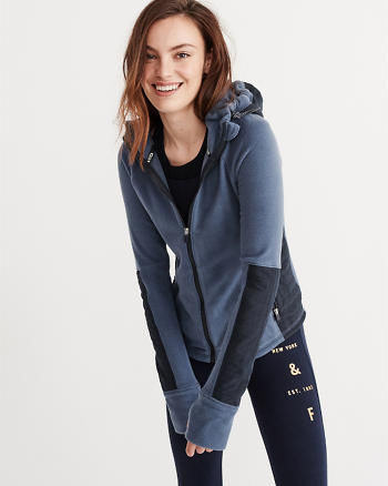 ANF Active Fleece Full-Zip Hoodie