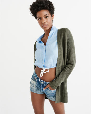 ANF Stitched Duster Cardigan