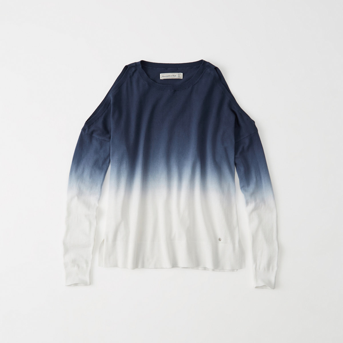 Dip Dye Cold-Shoulder Sweater