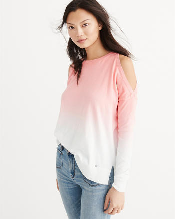 ANF Dip Dye Cold-Shoulder Sweater