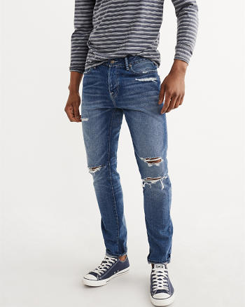ANF Medium Destroy Athletic  Skinny Jeans