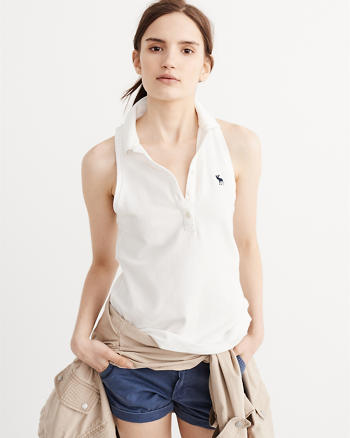 ANF Sleeveless Icon Polo