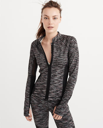 ANF Active Mesh-Pieced Full-Zip
