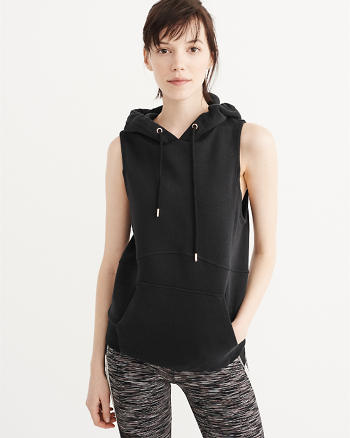 ANF Sleeveless Funnel Hoodie