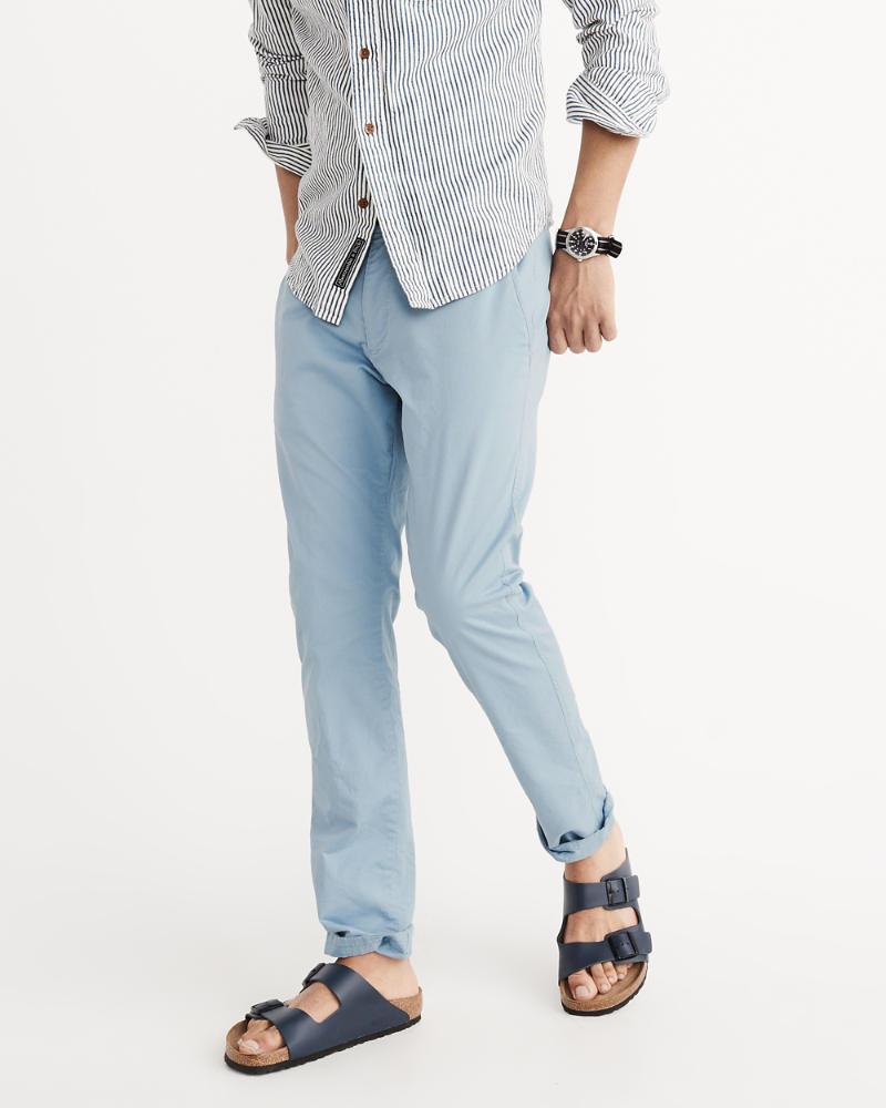 Mens Skinny Chino Pants Clearance Tendencies Navy Chinos Short 30 Product Image