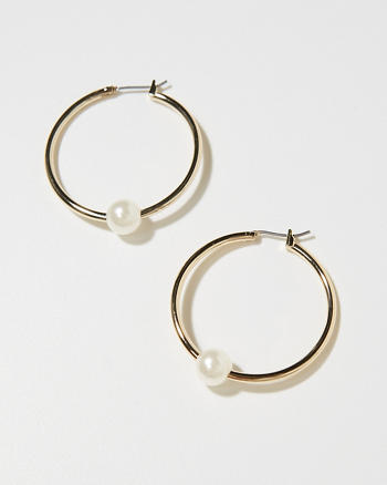 ANF Signature Hoop Earrings