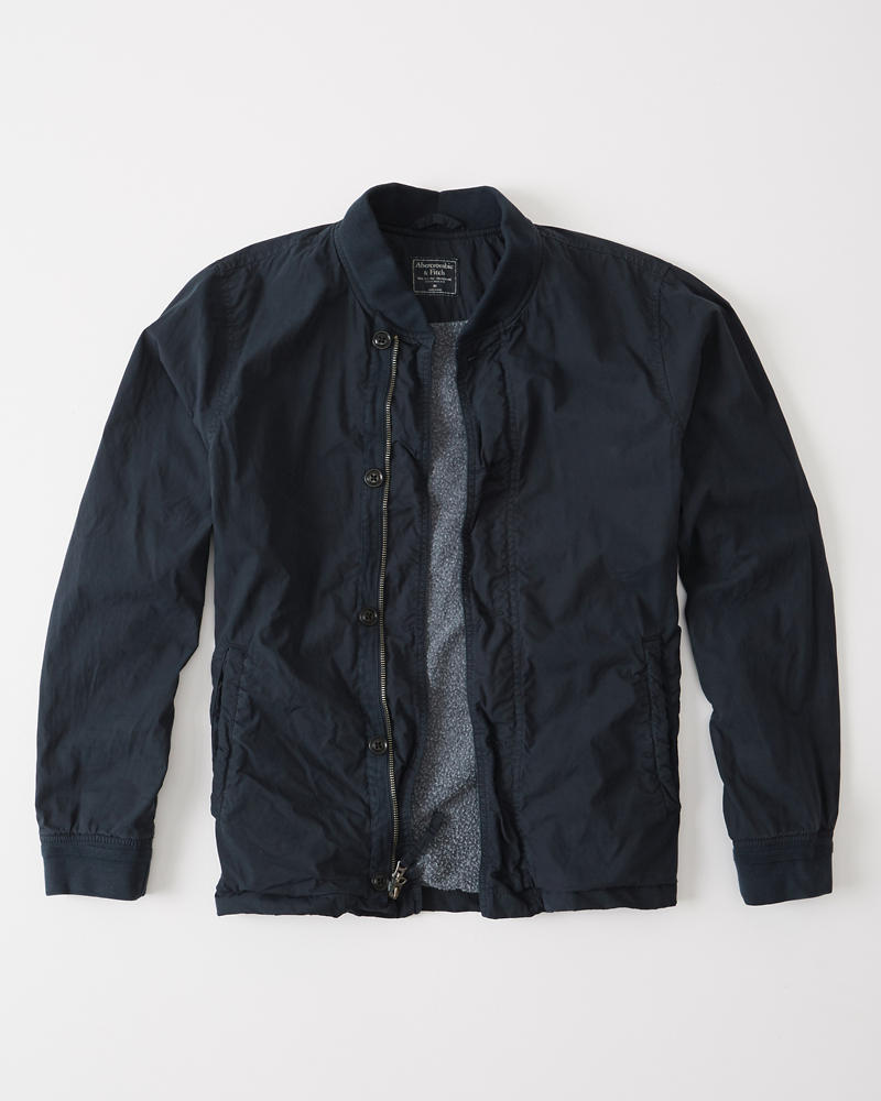 Abercrombie And Fitch Clothing Abercrombie And Fitch Hoodies Abercrombie And Fitch Jackets Abercrombie And Fitch Sweater: Mens Garment Dye Bomber Jacket