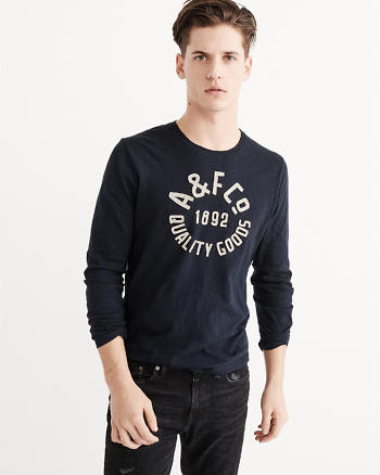 ANF Long-Sleeve Applique Graphic Tee