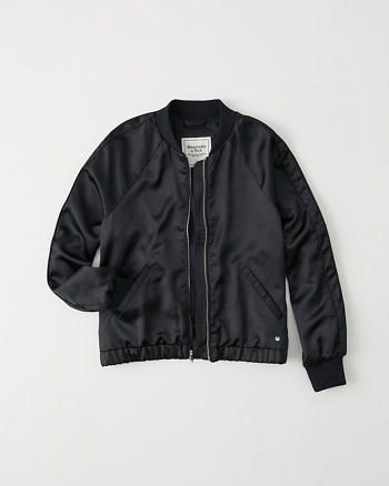 ANF Satin Bomber Jacket