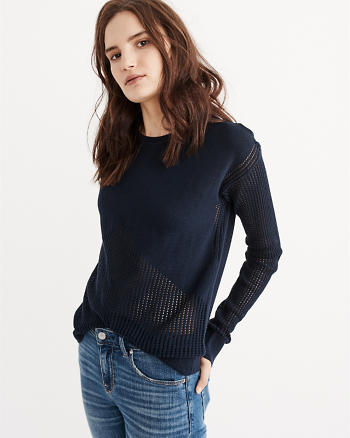 ANF Mixed Stitch Crew Sweater