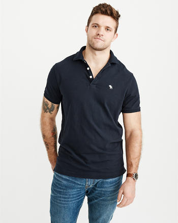 ANF Relaxed Fit Stretch Polo