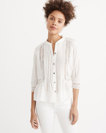 ANF Lace Trim Blouse
