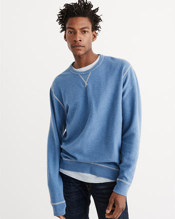 ANF Reversible Oversized Crew Sweatshirt