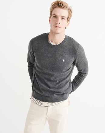 ANF Cashmere Blend Crew Sweater