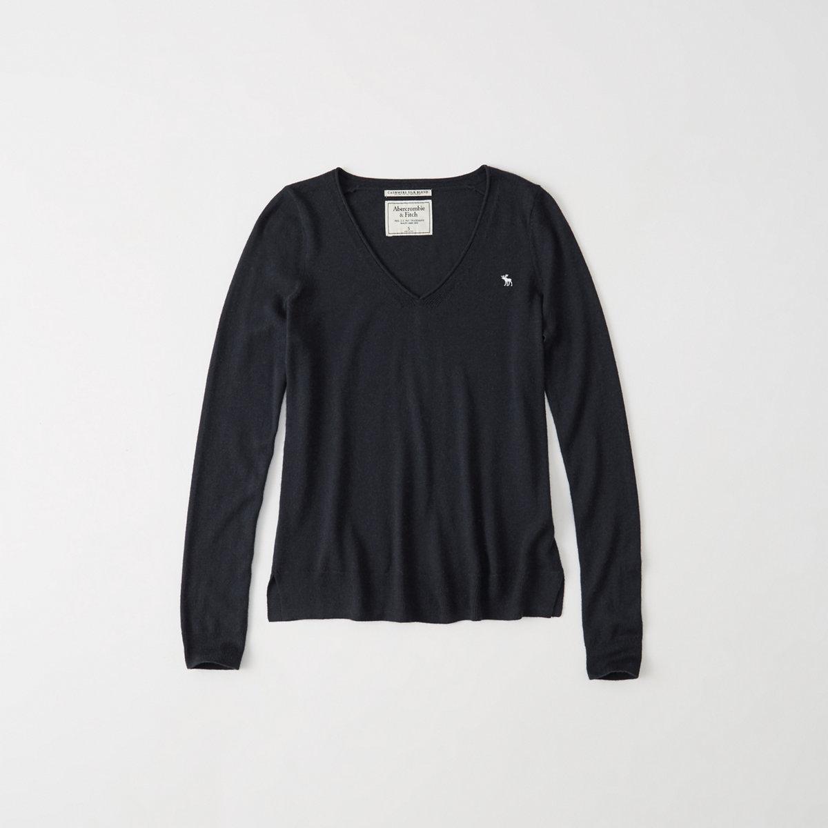 Cashmere Silk V-Neck Sweater