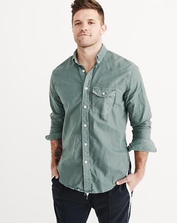 ANF Garment Dye Oxford Shirt