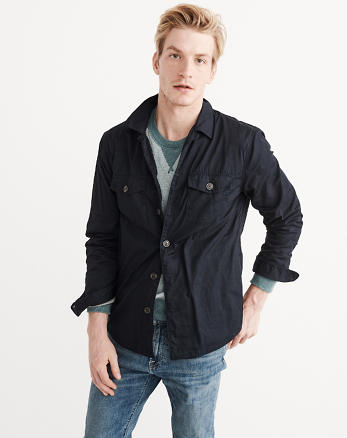 ANF Lined Shirt Jacket