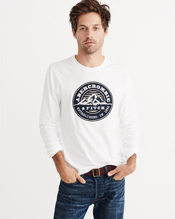 ANF Logo Long-Sleeve Tee