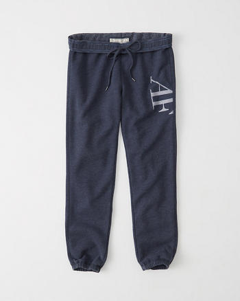 ANF Logo Ankle Banded Sweatpants