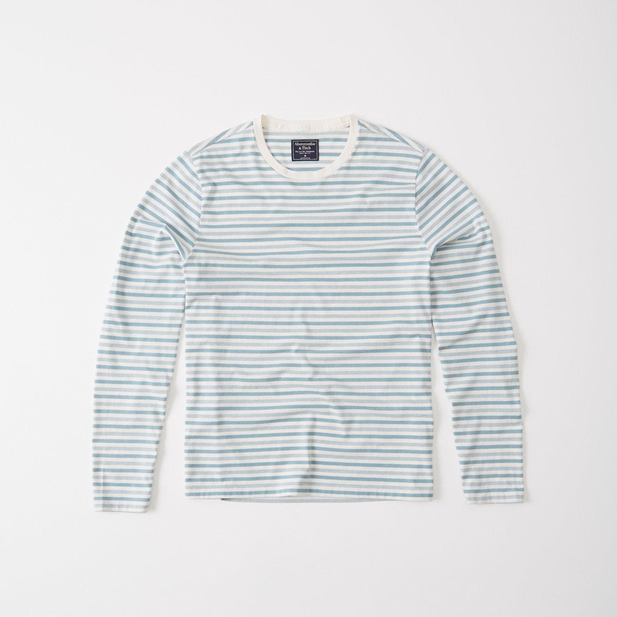 Long-Sleeve Striped Tee