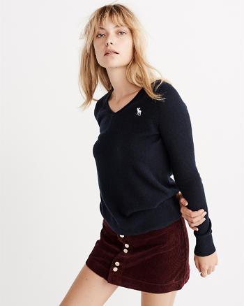 ANF Cashmere Icon V-Neck Sweater