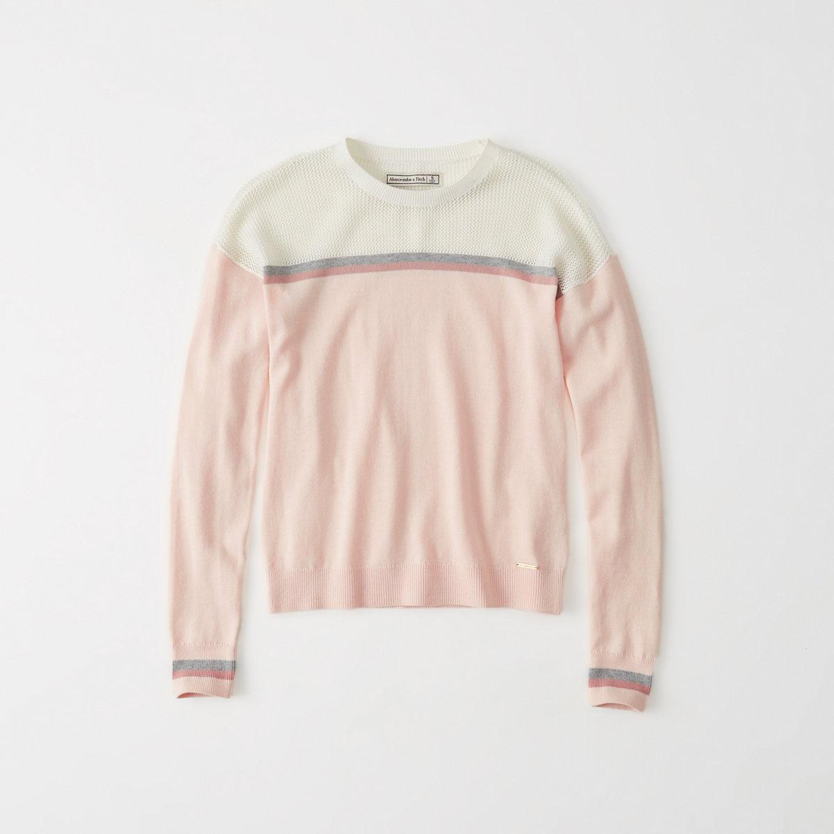 Mixed Stitch Crew Sweater