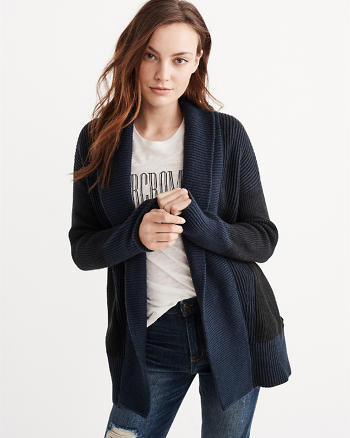 ANF Rib Mix Cardigan