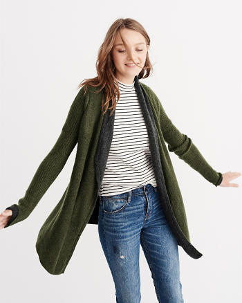 ANF Stitch Mix Blanket Cardigan