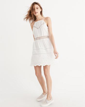Abercrombie Kleid Weiß Spitze