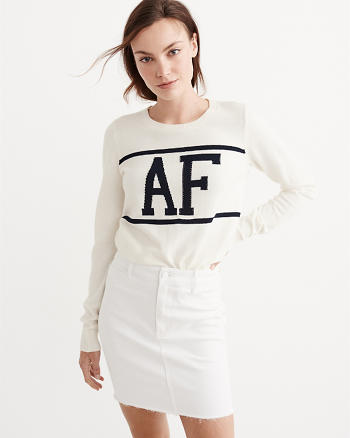 ANF Logo Crew Sweater