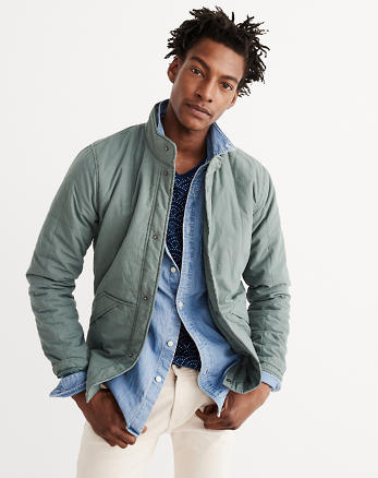 ANF Box Quilted Jacket