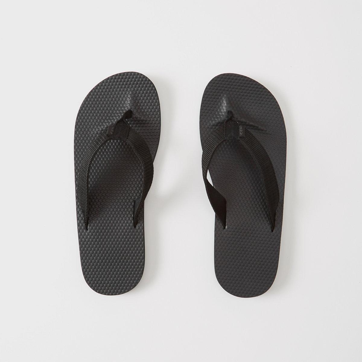 Mixed Media Rubber Flip Flops