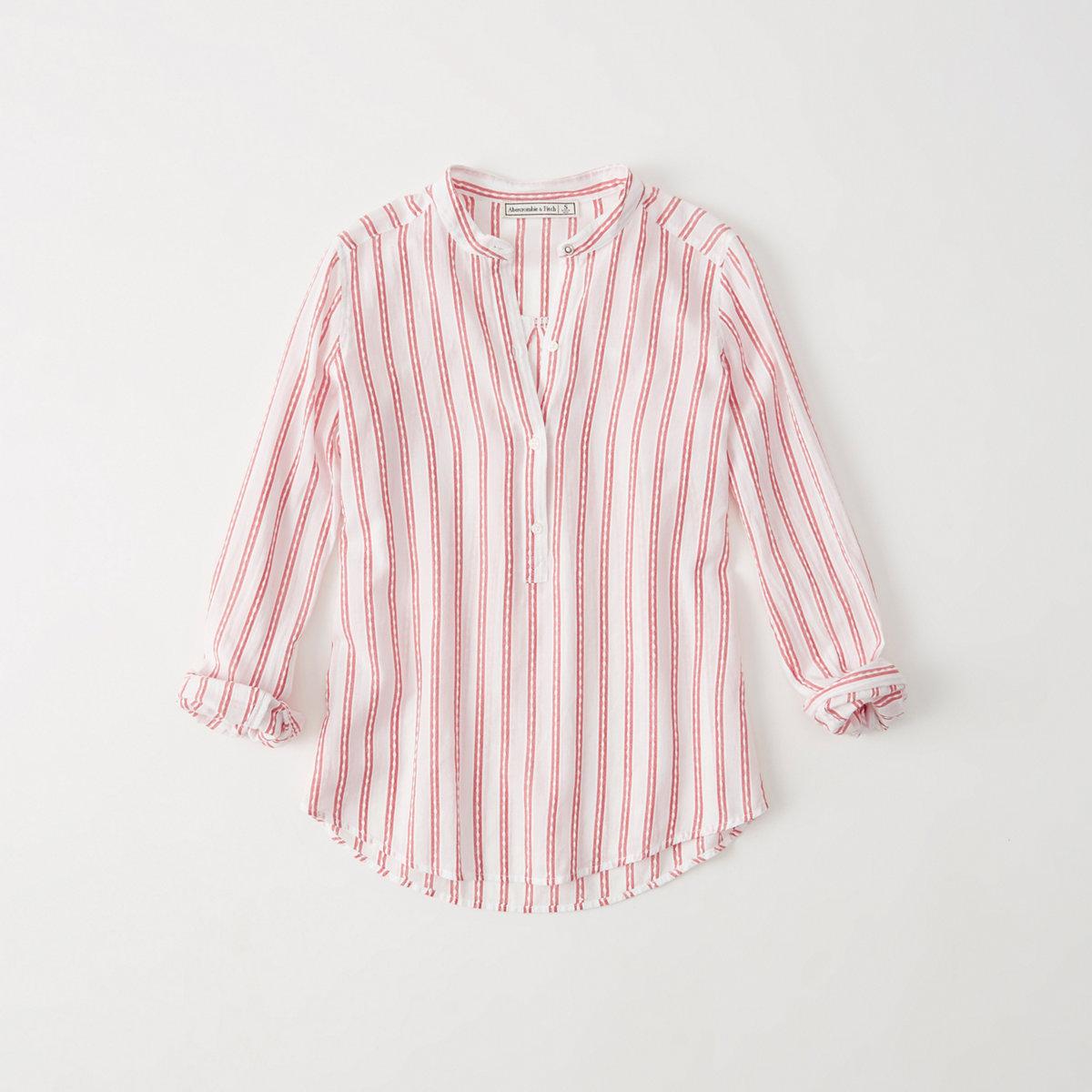 Mandarin Popover Shirt