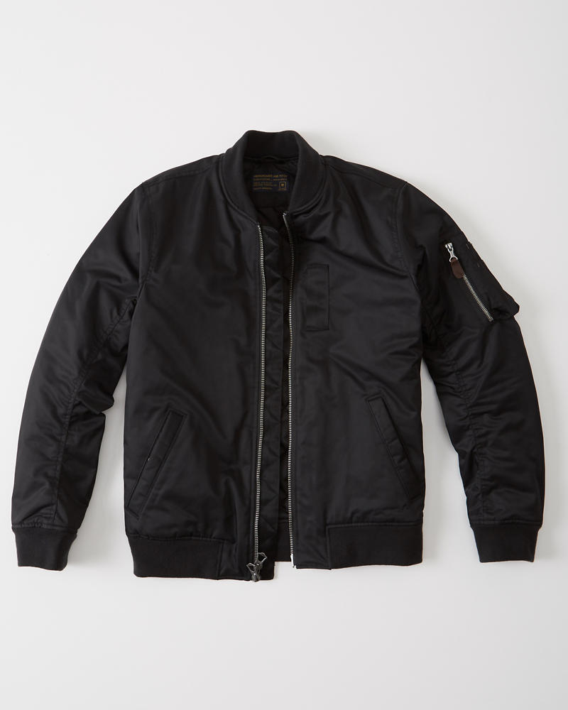 Mens Nylon Bomber Jacket | Mens Outerwear & Jackets ...