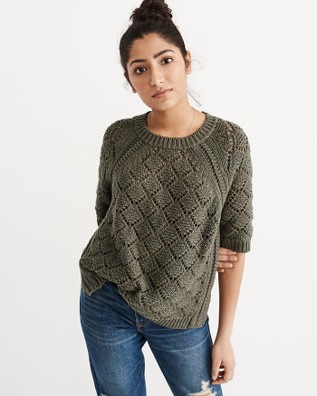 ANF Open Stitch Sweater