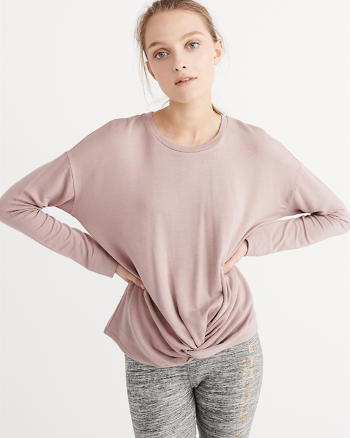 ANF Active Long-Sleeve Twist Tee