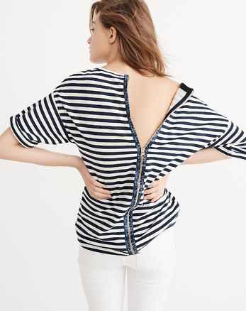 ANF Back-Zip Boxy Top
