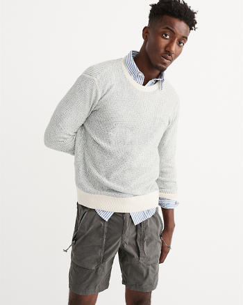 ANF Textured Stitch Crew Sweater