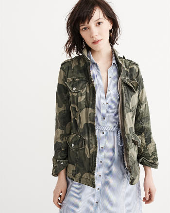 ANF Twill Shirt Jacket