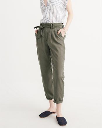 ANF Drapey Tie Waist Pants