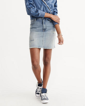 ANF Destroyed Denim Skirt