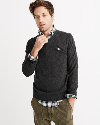 ANF Icon Wool-Blend V-Neck Sweater