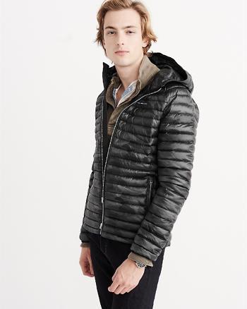 ANF Ultra Lightweight Hooded Puffer Jacket