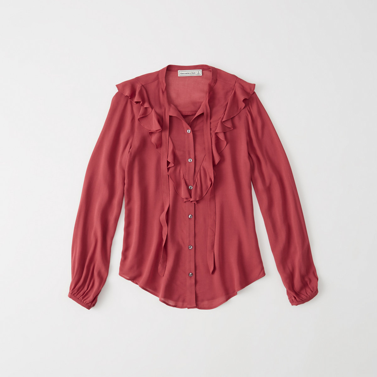 Ruffle Tie-Front Blouse