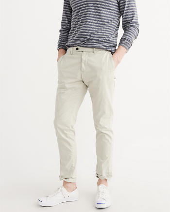 ANF Stretch Sateen Chino Pants