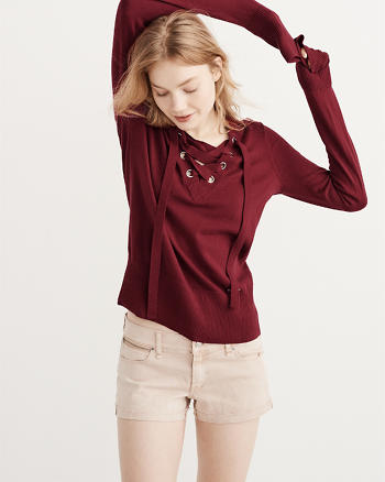 ANF Lace-Up Sweater