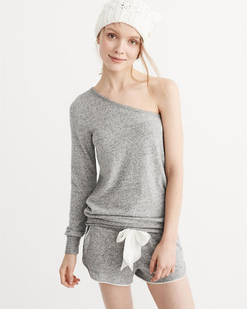 ANF Cozy One Shoulder Sweatshirt