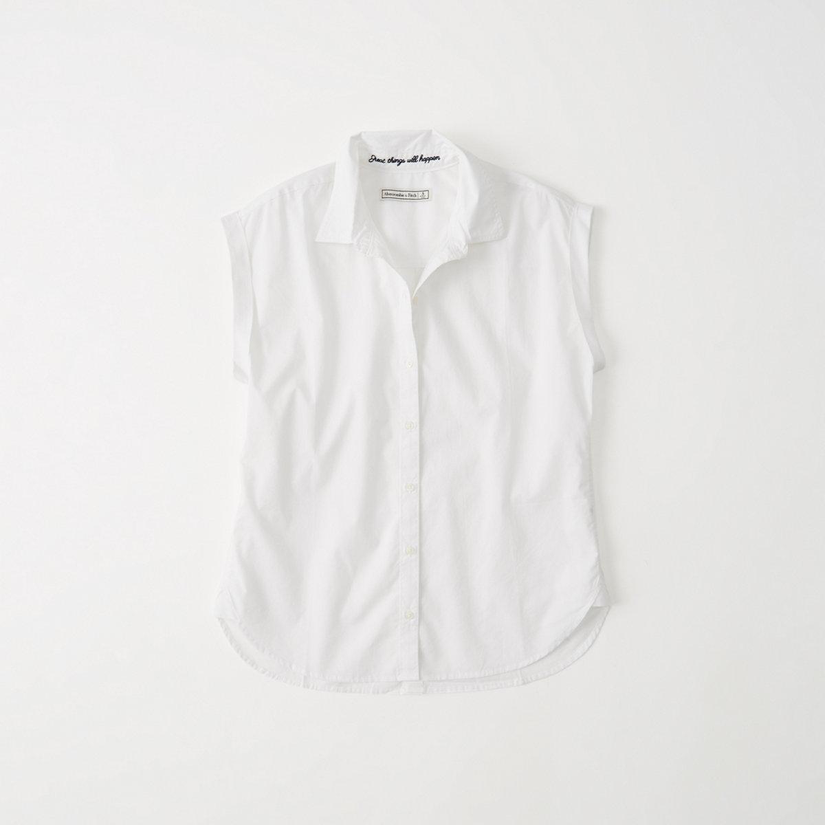 Button Back Poplin Shirt